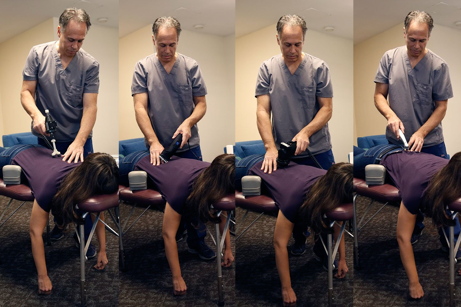 physical therapy modalities can be included in with your chiropractic adjustment